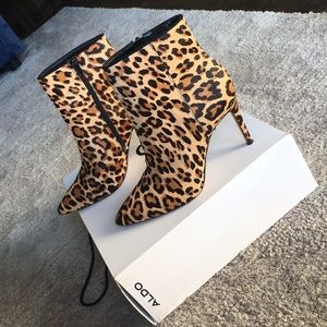 Leopard Stiletto dress bootie